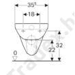 Geberit Selnova fali WC, mélyöblítésű, Rimfree
