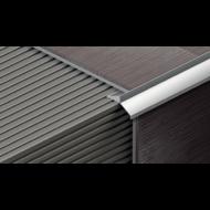 Vízvető teraszprofil, alumínium Alu natúr10