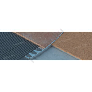 Hajlítható élvédő, alumínium Eloxált matt ezüst10