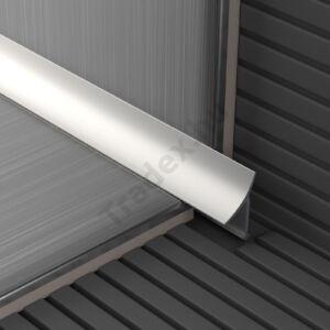 Beépíthető belső sarokélvédő, (lábatlan), alumínium