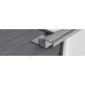 Szögletes lépcsőélvédő, alumínium