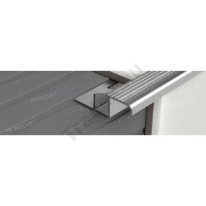 Íves lépcsőélvédő, alumínium – 11 mm