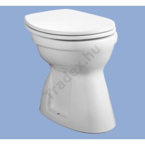 Laposöblítésű, alsó kifolyású WC